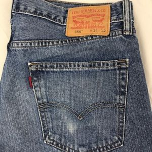 Levi's Jeans - Levis 559 relaxed straight blue jeans 34 x 32